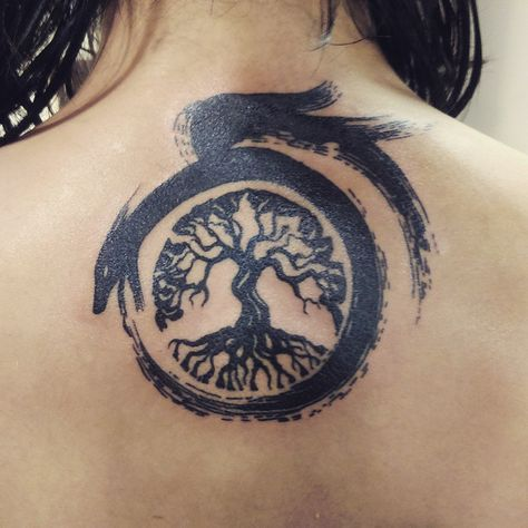 Bonsai Ouroboros Tattoo.