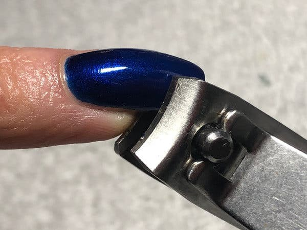 Cutting the Acrylic Nails
