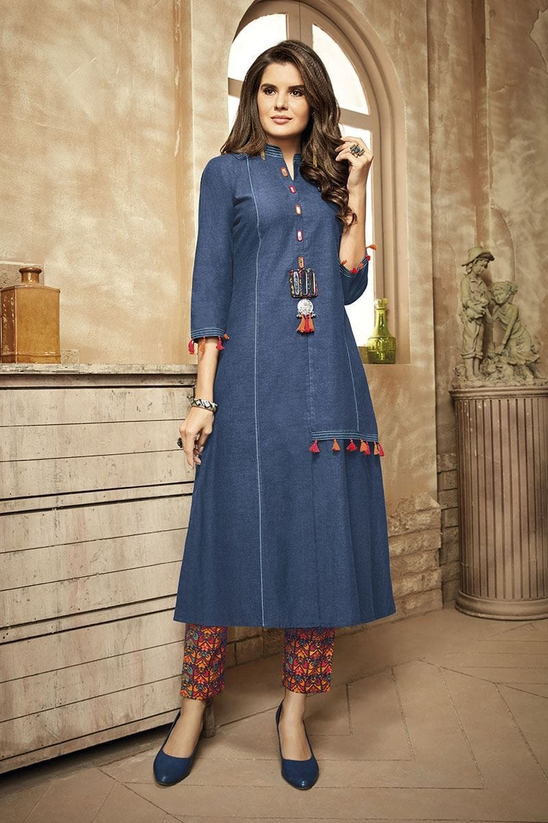 Denim Churidar Design