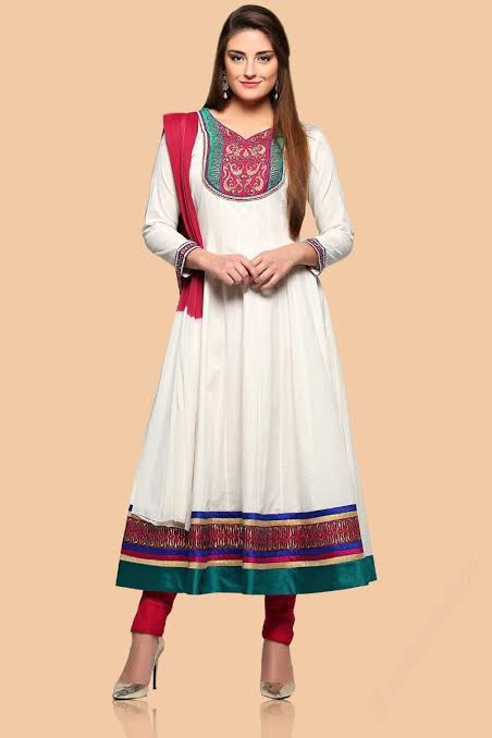 Knee-Length Anarkali Churidar Designs