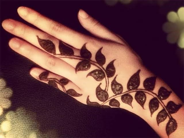 Leaf pattern for the palm