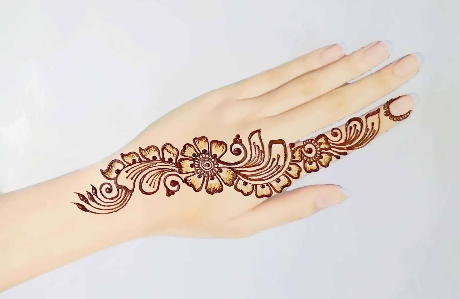 Small Flower Pathways henna design