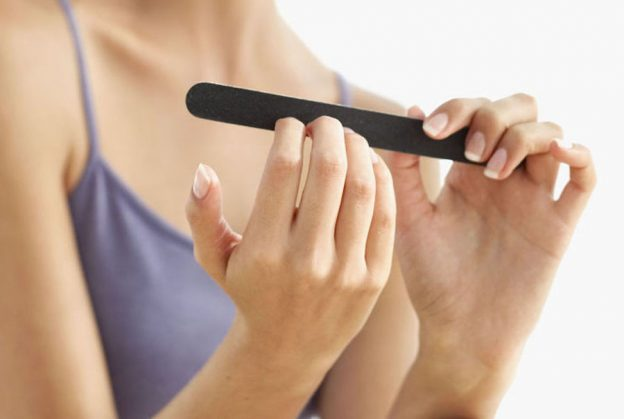 how to take off the acrylic nails at home